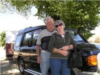 Happy  campers Pauline and Robert Ferguson near Gundagai