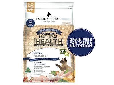 Ivory Coat Chicken with Coconut Oil Grain Free Dry Kitten Food 3kg