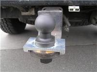 Towball and lock-plate on the Hayman Reese towbar