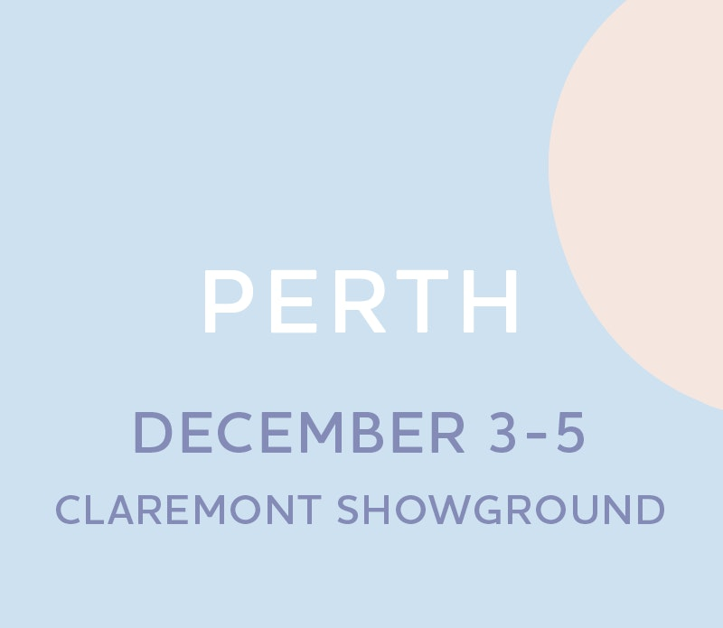 Text box with Perth Expo dates, 3 to 5 December