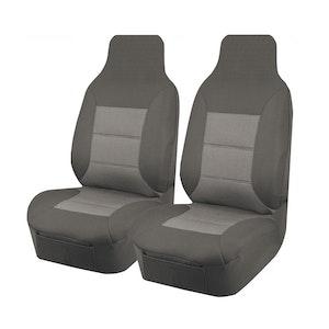Premium Car Seat Covers For Toyota Hiace Trh-Kdh Series 2005-2015 Single/Crew Cab   Grey