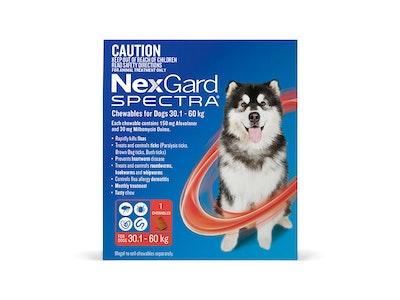 Nexgard Spectra Dog Extra Large Dog 30.1-60kg Red