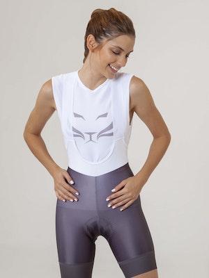 Taba Fashion Sportswear Pantaloneta de Ciclismo Clasica Mujer Grey