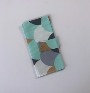 Mint Cloud Handmade Nappy Wallet