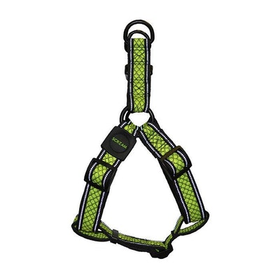 ScreamPet Scream Reflective Step In Dog Harness Loud Green - 4 Sizes