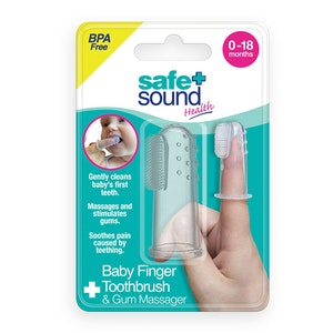 Safe + Sound Baby Finger Toothbrush & Gum Massager Clean Teeth 0-18 Months