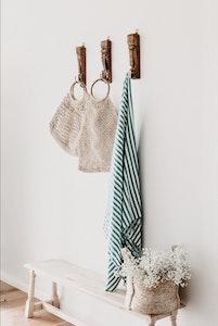 Hand Loomed Towel ~ Jade