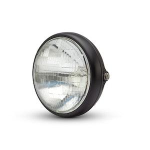 "7.7"" Shorty Metal Headlight - Matte Black"