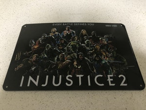 Injustice 2 metal plate - numbered edition