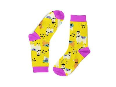Rave Llamas Socks