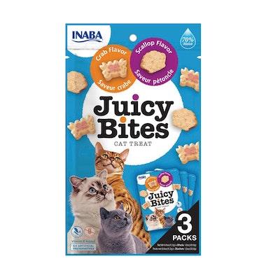 INABA Juicy Bites Cat Treat Scallop & Crab Flavor 6 x 34g
