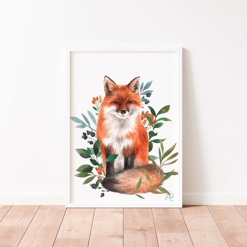 Laura Elizabeth Illustrations Fox Fine Art Print