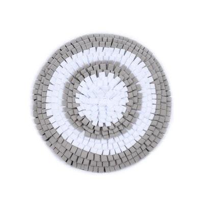 DoggyTopia Grey & White round Snuffle Mat