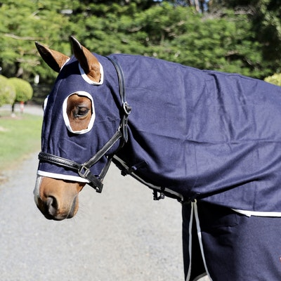 Capriole Equestrian Navy Wool Show Hood
