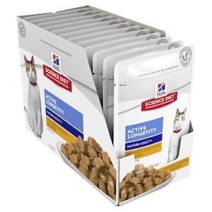 Hills Science Diet Cat Adult 7+ Active Longevity Chicken 12 x 85g