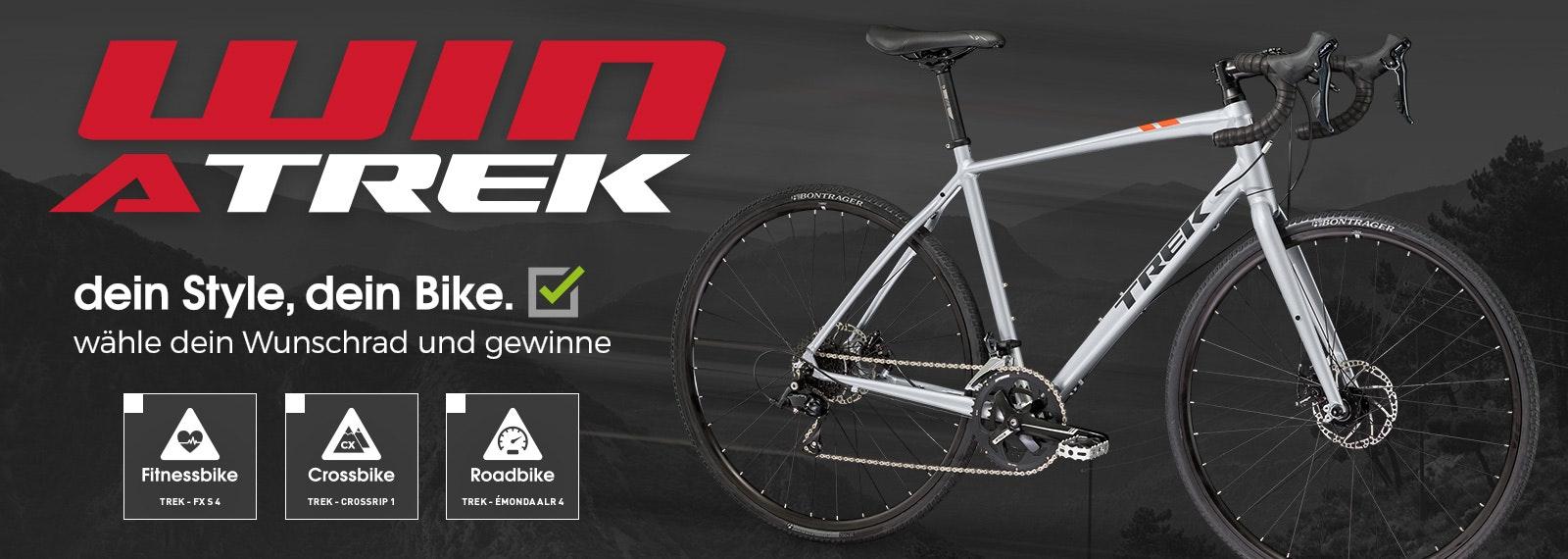 Trek Fahrrad Gewinnspiel mit 3x-Chance   BikeExchange