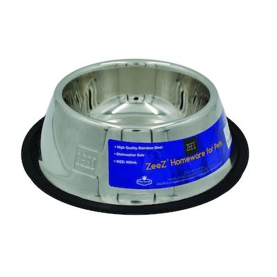 Zeez Stainless Steel Non-Skid Cocker Spaniel Dog Bowl 950ml