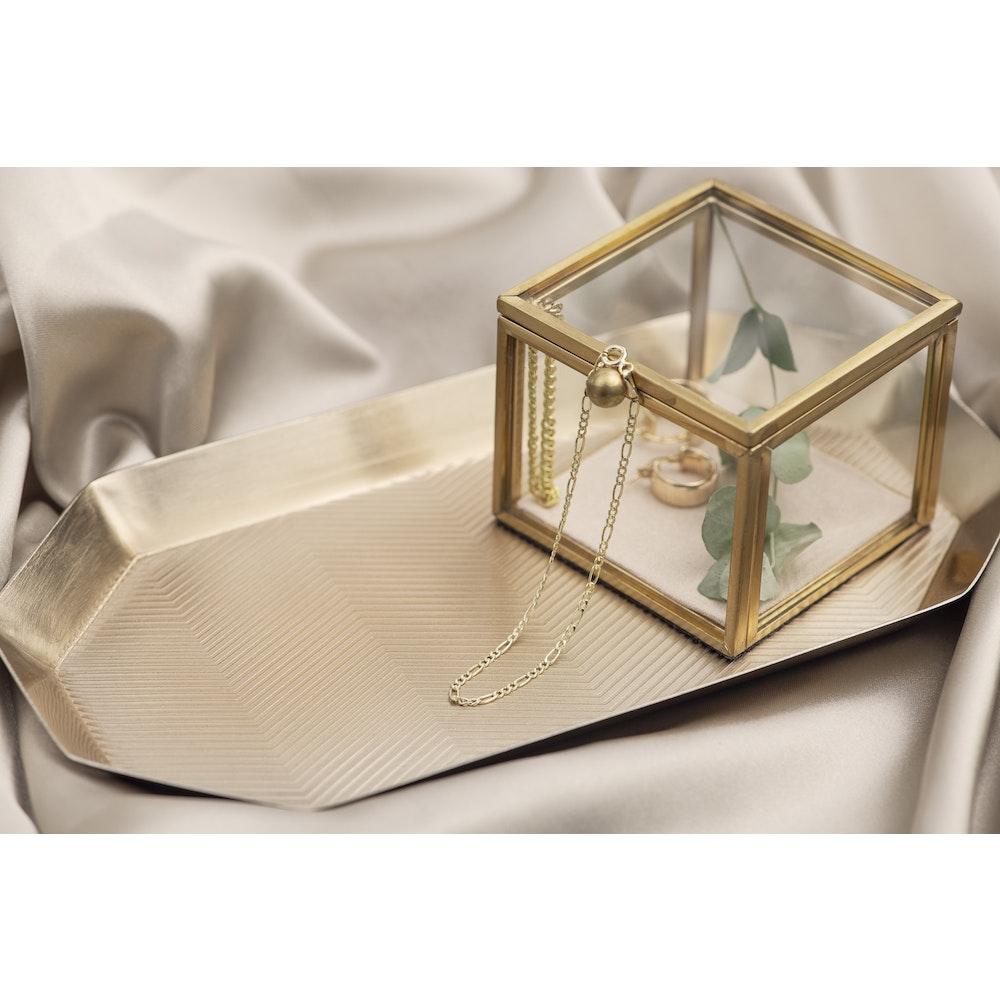 Jessica Alice Jewellery 9ct Solid Gold Fine Figaro Bracelet