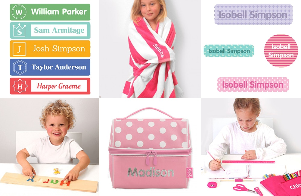 Stuck On You, Name Labels and Personlised Gifts for Kids
