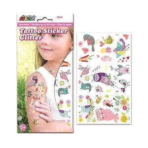 Avenir - Glitter Tattoo - Owl
