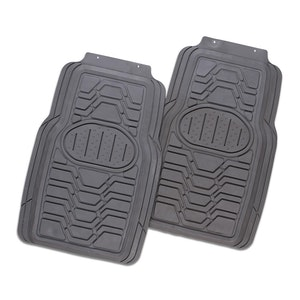 Viper 2-Piece Car Mat - Grey [Rubber]