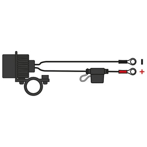 Oxford USB Dual Socket - Handlebar Mount