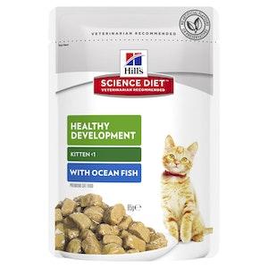 Hill's Science Diet Kitten Ocean Fish Pouches Cat Food 12 x 85g