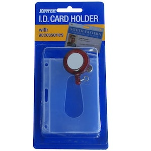 Kevron ID1013 Clear Card Holder With Recoil Reel
