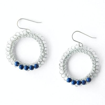 Global Sisters Shop Katia Earrings Navy
