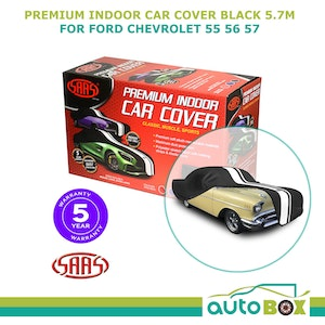 SAAS BLACK SHOW CAR COVER INDOOR DUST CLASSIC 5.7m Long FORD CHEVROLET 55 56 57