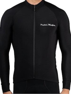 Pedal Mafia Mens Thermal Jacket S20 - Black White Logo