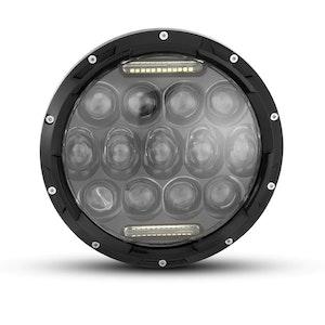 "7"" Black Multi Projector LED Headlight Insert with Daytime Running Light"