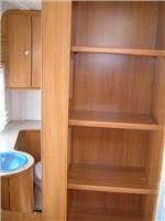 Shelf space too in the Hymer Nova