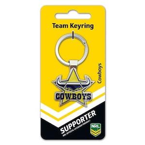 Creative Keys NRL Team Logo Key Ring - North Queensland Cowboys