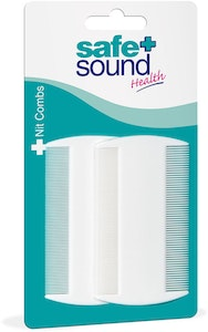 Safe + Sound Nit Combs White