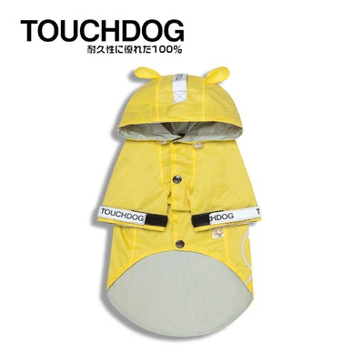 TOUCHDOG Monster Fashion Waterproof Dog Raincoat Yellow