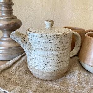White Ceylon teapot