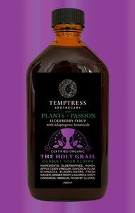 Temptress Apothecary The Holy Grail – Elderberry Syrup With Adaptogenic Botanicals