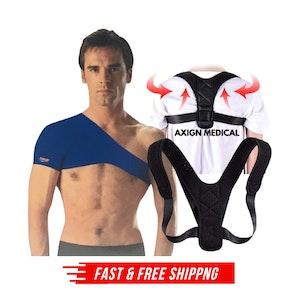 Shoulder Support Brace + Medical Posture Back Support Brace Corrector Strap