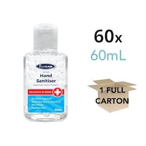 Hand Sanitiser 60mL Carton - 60 x 60mL Handy Bottles