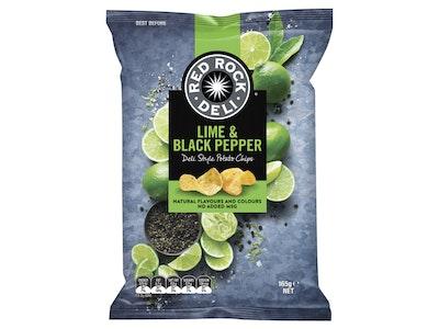 Red Rock Deli Lime & Black Pepper Potato Chips 165g