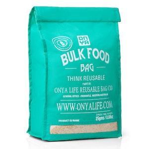 Onya Bulk Food Bag (Large) made from recycled plastic drink bottles - Aqua