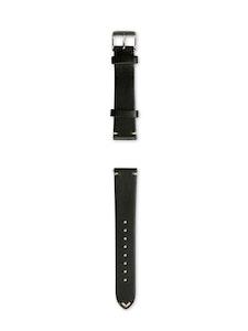 Geneva Blue - Horween Black Leather Strap