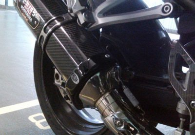 R&G Racing Exhaust Protector To Suit Yoshimura R-77 (Black)