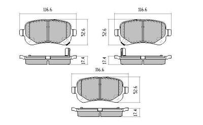 RDA EXTREME REAR BRAKE PADS for CHRYSLER GRAND VOYAGER RT 2.8TD 3.8L 2008-6/2010