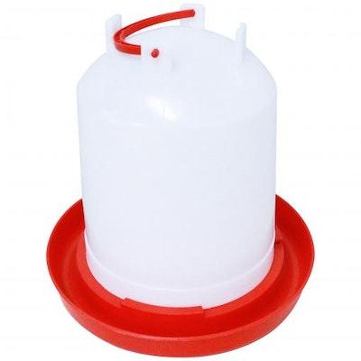 PETstock Red & White Waterer 3ltr