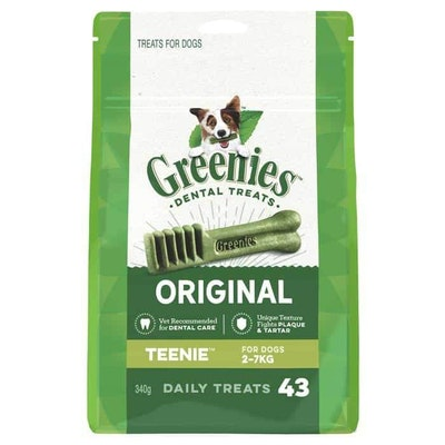 Greenies Teenie Dental Chews for Extra Small Dogs Treats
