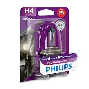 Philips CityVision Moto H4 P43T 60/55W Headlight Bulb