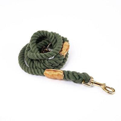 Barker & Bone Rope Dog Leash | Chive
