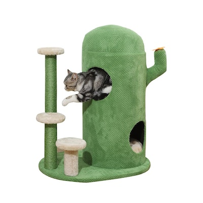 House of Pets Delight Green Wonderland Cat Tree Scratching Tower Condo